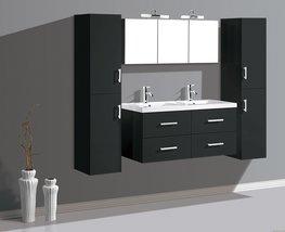 2-Persoons Zwart badkamermeubel. Type BLHavikLUX1