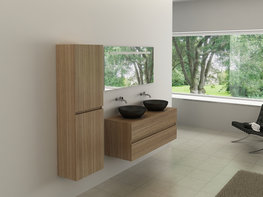 2-Persoons hout decor badkamermeubel. Type BL9012