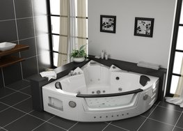 2-Persoons massagebad. Type 1501white.