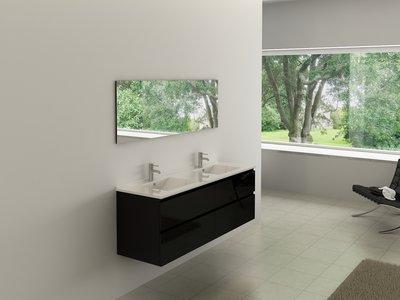 Badkamerkast Zwart Hoogglans : Badkamer kast fresh badkamerkast der wastafel beste van wastafel