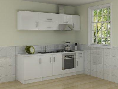 Keuken Wandkast 5 : Rechte keuken model 5 2 4m huis & tuin planet