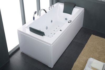 1 Persoons massagebad, wit, rechts, MT-RT1802-R 183x90x72cm..