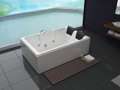 2 Persoons massagebad MT-RT1809 rechts, wit, 180x120x61cm..