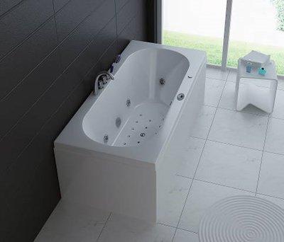 1 Persoons massagebad, wit, links 190x90x60cm.