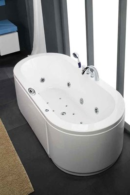 1 Persoons massagebad MT-IR1902, 190x90x67cm, WIT