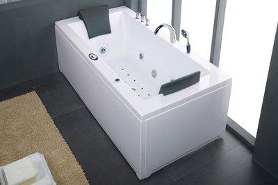 2 Persoons massagebad, wit, links, 183x90x72cm..