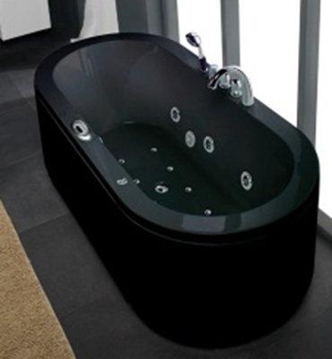 1 Persoons massagebad IR1902B, zwart, 190x90x67cm., ZWART.