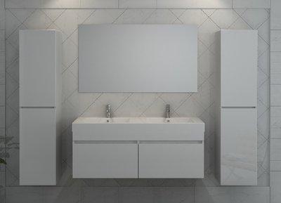 2 persoons badkamermeubel. type b1420. kleur is hoogglans wit
