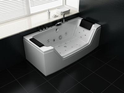 2 Persoons Whirlpool massagebad Wit - 160x80cm