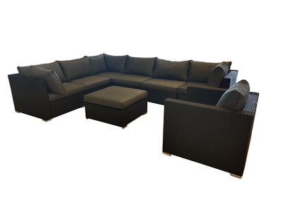 8 delige loungeset lichtblauwe kussens zwarte wicker gc-51054a-srp